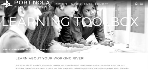 Port of New Orleans launches digital learning toolbox