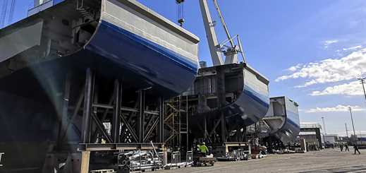 Production of new Wasaline ferry continues