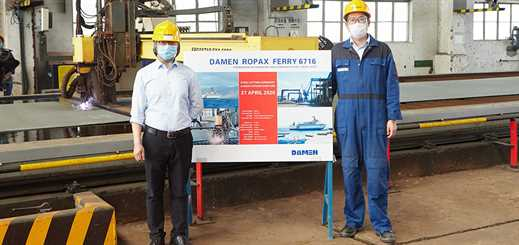 Damen Yichang hosts digital steel-cutting ceremony