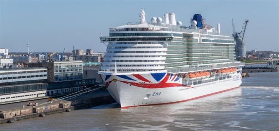 P&O Cruises' Iona arrives in Rotterdam