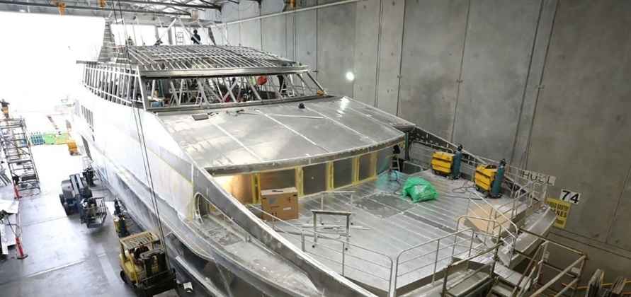 World Heritage Cruises catamaran under construction