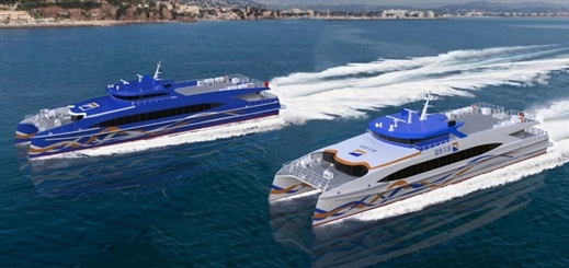 Two catamarans under construction for Zhuhai Fast Ferry Company