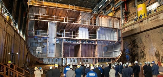 Swan Hellenic holds keel laying ceremony for SH Minerva