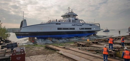 Damen launches BC Ferries' third hybrid-powered ferry