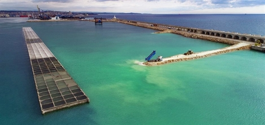 Construction progresses on Port of Tarragona's Balears Wharf