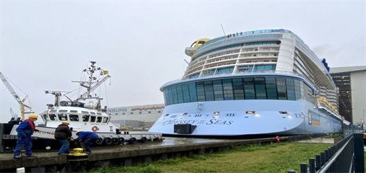 Meyer Werft floats out Odyssey of the Seas in Germany