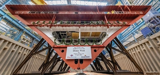 Disney Wish keel laying ceremony takes place at Meyer Werft shipyard