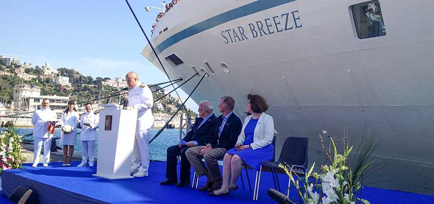 Windstar launches Star Breeze during ceremony in France
