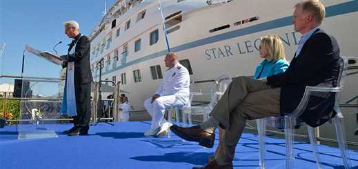 Windstar Cruises christens Star Legend in Italy
