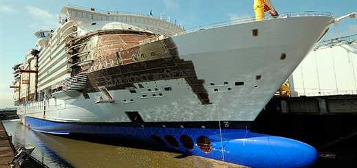 STX France completes exterior of Harmony of the Seas
