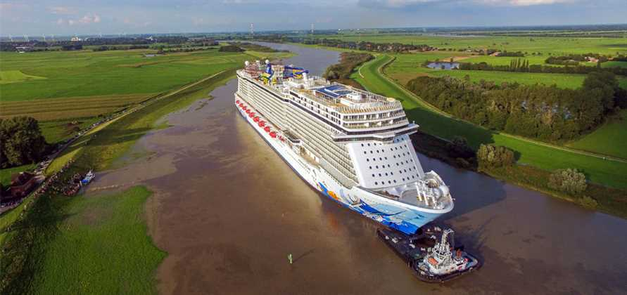 Norwegian Escape leaves Meyer Werft shipyard