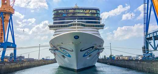 Damen Shiprepair Brest starts scheduled Norwegian Epic drydock