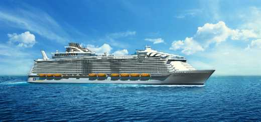 Royal Caribbean lays keel for fourth Oasis-class ship