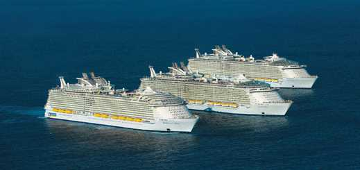 Three Royal Caribbean ships meet in the US for first time