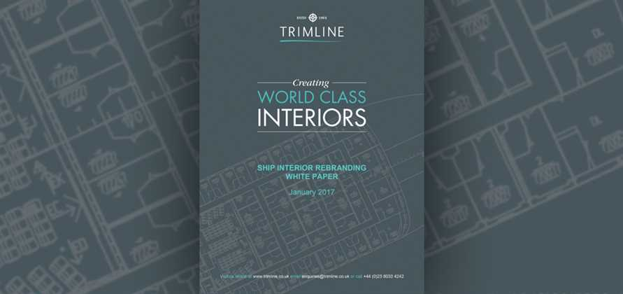 Trimline releases new whitepaper on interior refits