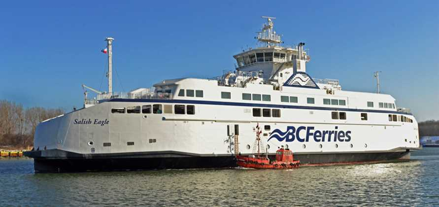 BC Ferries LNG ferry leaves Remontowa for British Columbia