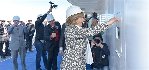 Coin ceremony marks construction milestone for Carnival Horizon