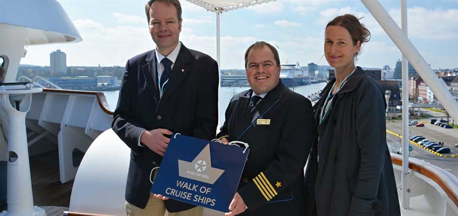 AIDAcara opens the 2017 cruise season in Kiel