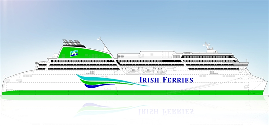 Flensburger cuts steel for Irish Ferries' newbuild