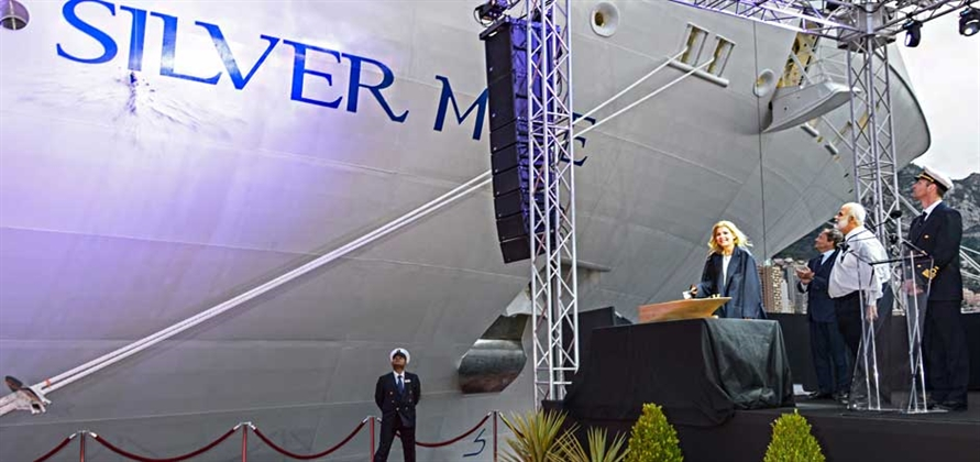 Silversea Cruises christens Silver Muse in Monaco