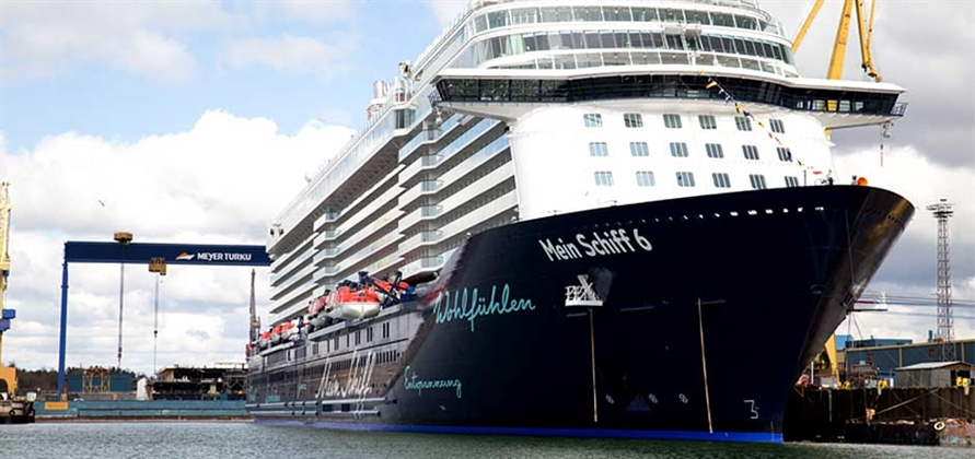 Meyer Turku officially delivers Mein Schiff 6 to TUI Cruises