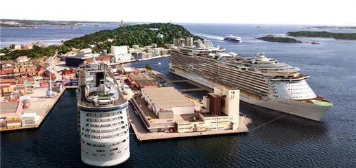 Kristiansand opens new cruise pier for large vessels