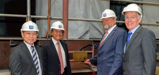 Crystal celebrates keel-laying for river ships at MV Werften