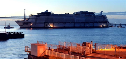 Symphony of the Seas floats out of STX France dry dock
