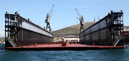 Piraeus Port Authority re-opens largest floating dock
