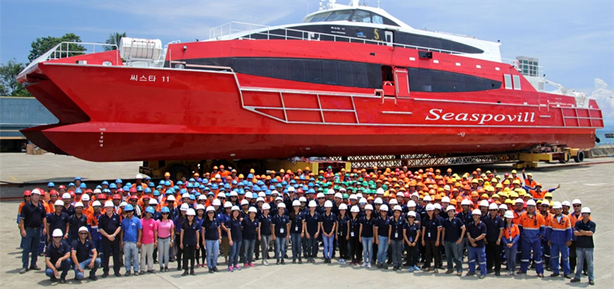 Seaspovill launches new passenger catamaran ferry SeaStar 11