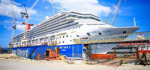 Grand Bahama Shipyard refits 17 cruise ships in the first half of 2017