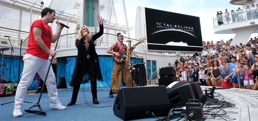 Bonnie Tyler and DNCE help Royal Caribbean mark total solar eclipse