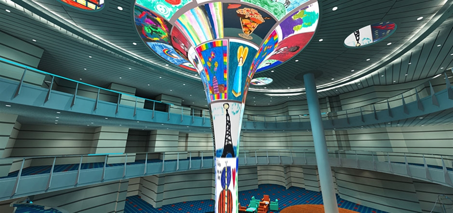 St. Jude's patients design artwork for atrium on Carnival Horizon