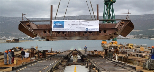 Brodosplit lays keel for polar expedition cruise vessel