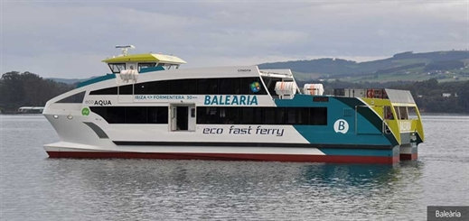 Baleària takes delivery of first new eco fast ferry