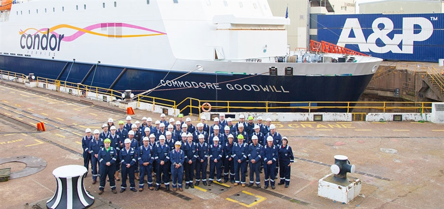 A&P Falmouth on track to complete Condor Ferry refit project