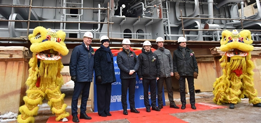 AVIC Weihai Shipyard lays keel for first of Stena Line's new vessels