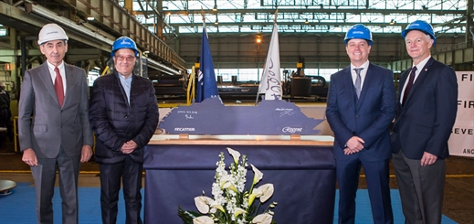 Fincantieri cuts steel for RSSC's new Seven Seas Splendor