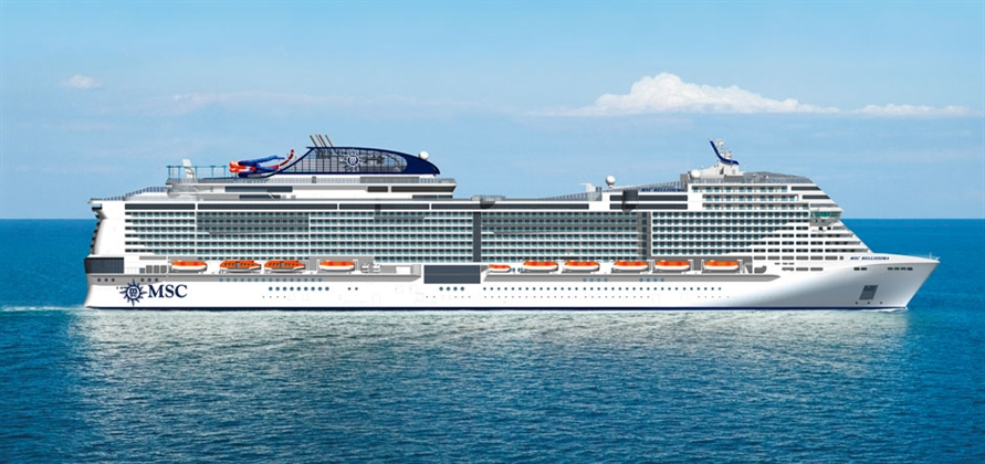 MSC Bellissima to be christened in Southampton in 2019