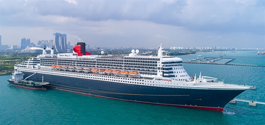 Queen Mary 2 visits Singapore during Southeast Asia voyage