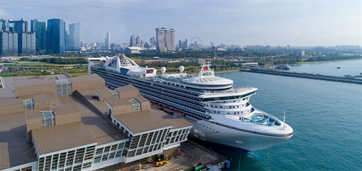 Golden Princess embarks on cruise from Singapore after dry dock