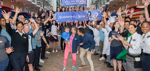Royal Caribbean International crowns its first-ever godfamily