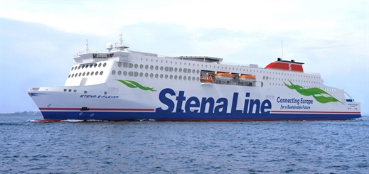 First of Stena Line's ro-pax ferries to sail on the Irish Sea