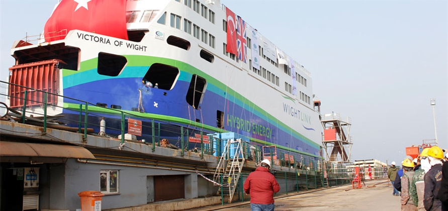 Wightlink Prepares Welcome First Hybrid Battery Ferry