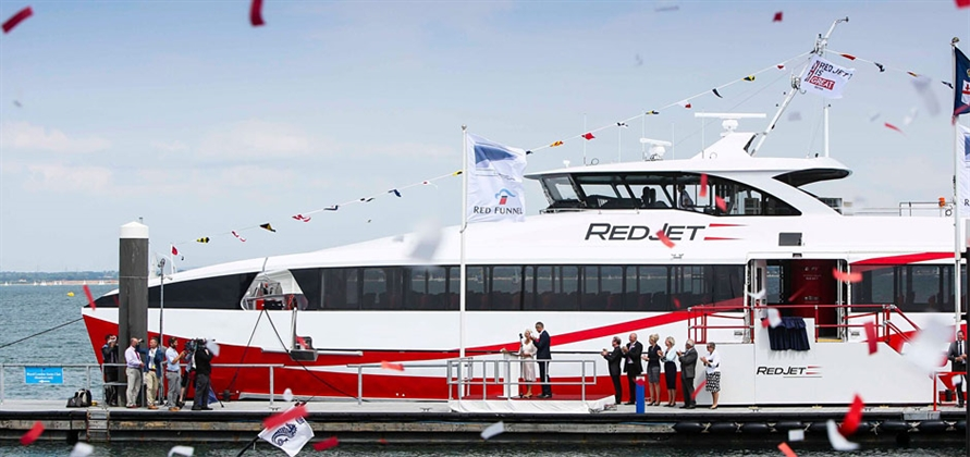 HRH The Duchess of Cornwall names Red Jet 7