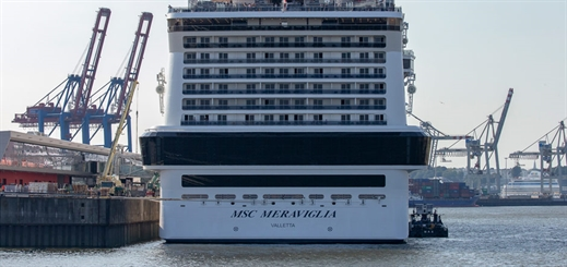 MSC Meraviglia breaks records at Port of Hamburg