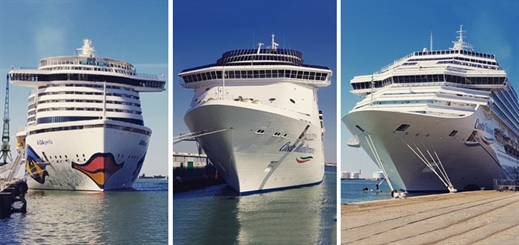Le Havre hosts triple call from Carnival Corporation ships