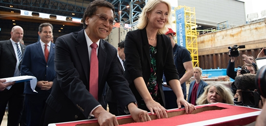MV Werften lays keel for Dream Cruises newbuild