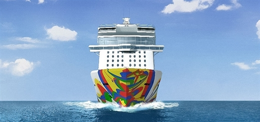 Eduardo Arranz-Bravo designs hull artwork for Norwegian Encore