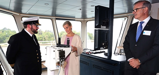 Wightlink's new flagship ferry gets royal seal of approval